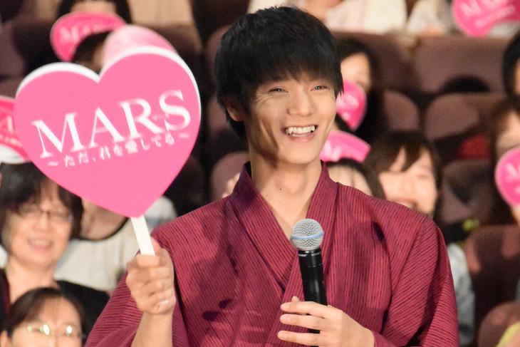 「MARS(マース)~ただ、君を愛してる~」大ヒット舞台挨拶に出席した窪田正孝。