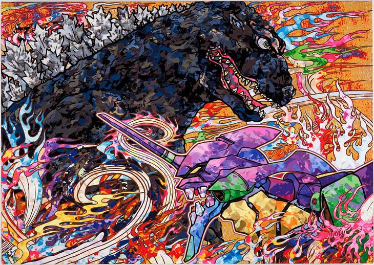 「ゴジラ対エヴァンゲリオン」第3弾ビジュアル 村上隆 (c)2016 Takashi Murakami/Kaikai Kiki Co., Ltd. TM&(c)TOHO CO.,LTD. (c)カラー