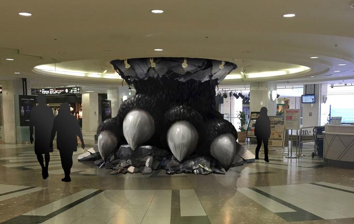東京・サンシャインシティのアルパに設置されるフォトスポット「ゴジラフット」イメージビジュアル。