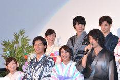 下段左から伊藤沙莉、中川大志、広瀬アリス、斎藤工。上段左から森絵梨佳、桜田通、千葉雄大。