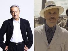 山路和弘(左)と、「ターザン:REBORN」よりレオン・ロム役のクリストフ・ヴァルツ(右)。