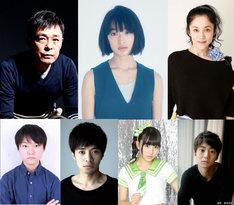 「14の夜」出演者。上段左から光石研、門脇麦、濱田マリ。下段左から犬飼直紀、和田正人、浅川梨奈、健太郎。
