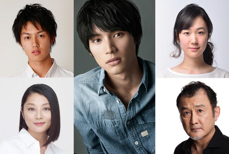「ちょっと今から仕事やめてくる」のキャスト。左上から時計回りに工藤阿須加、福士蒼汰、黒木華、吉田鋼太郎、小池栄子。