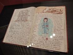 ギレルモ・デル・トロの自筆ノート。