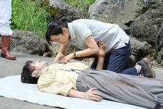 「RANMARU 神の舌を持つ男~(中略)~鬼灯デスロード編」撮影現場の様子。