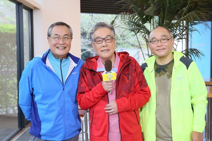 スリーアミーゴスの3人。左から小野武彦、北村総一朗、斉藤暁。