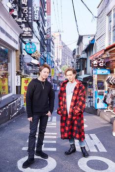 左からEXILE TAKAHIRO、登坂広臣(三代目 J Soul Brothers from EXILE TRIBE)。