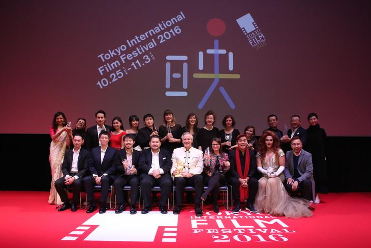第29回東京国際映画祭クロージングセレモニーの様子。