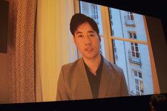 ビデオメッセージで登場したチャン・ハンイ。