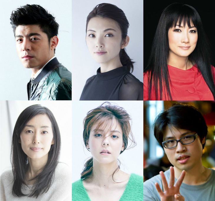 上段左からワン・ポーチエ、田中麗奈、余貴美子。下段左から木村多江、藤井美菜、ジェイ・チャン。
