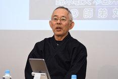2016年12月6日、「ジブリの仲間たち」の刊行を記念したトークイベントに出席した鈴木敏夫。