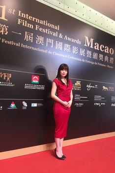 第1回マカオ国際映画祭に参加した冨手麻妙。