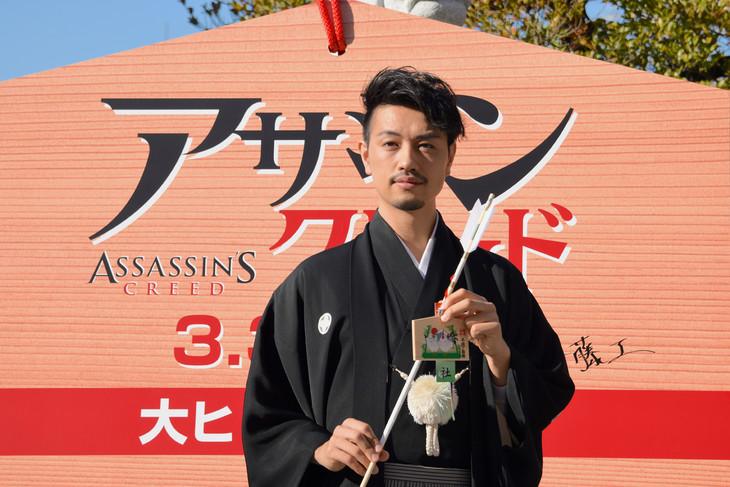 「アサシン クリード」大ヒット祈願イベントに登壇した斎藤工。