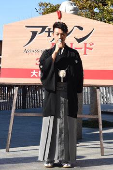 袴を着てイベントに臨んだ斎藤工。