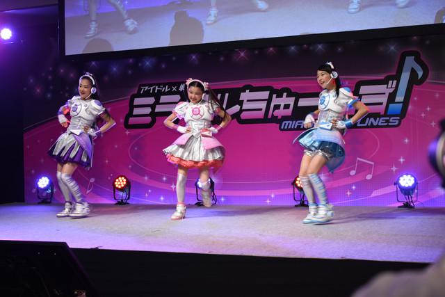 テレビシリーズ「アイドル×戦士 ミラクルちゅーんず!」製作記者発表会の様子。