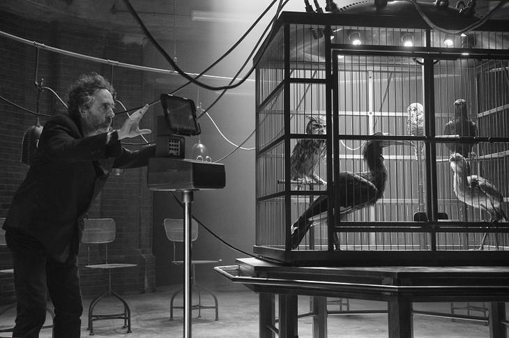 「ミス・ペレグリンと奇妙なこどもたち」撮影中のティム・バートン。