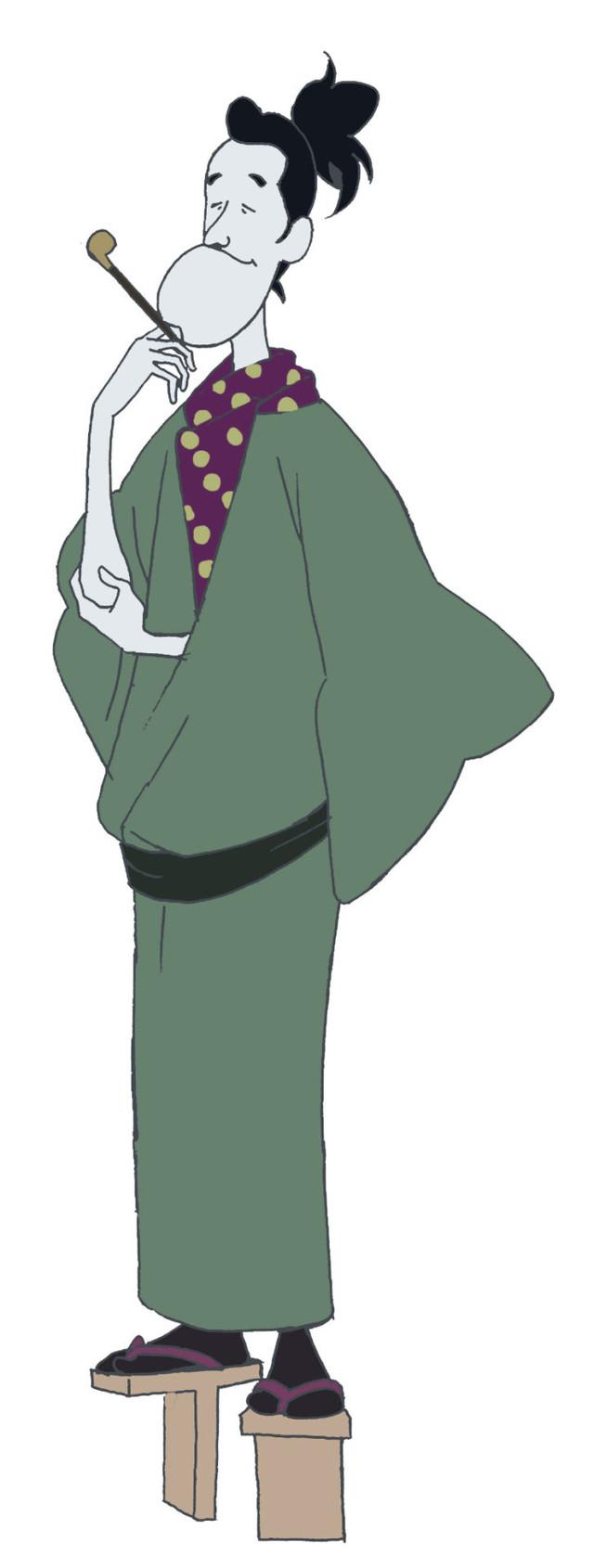 中井和哉演じる樋口師匠のキャラクター画像。