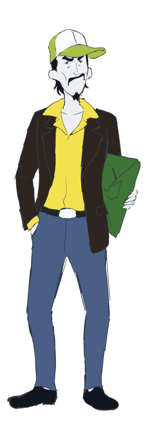 山路和弘演じる東堂さんのキャラクター画像。