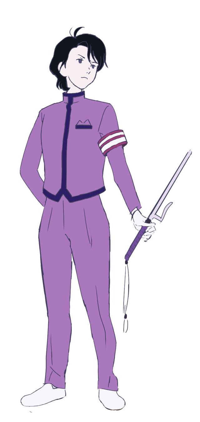 神谷浩史演じる学園祭事務局長のキャラクター画像。
