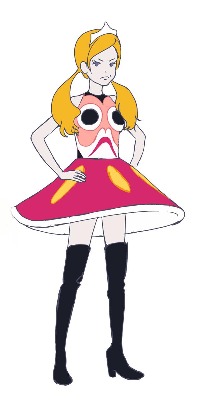 悠木碧演じるプリンセスダルマのキャラクター画像。