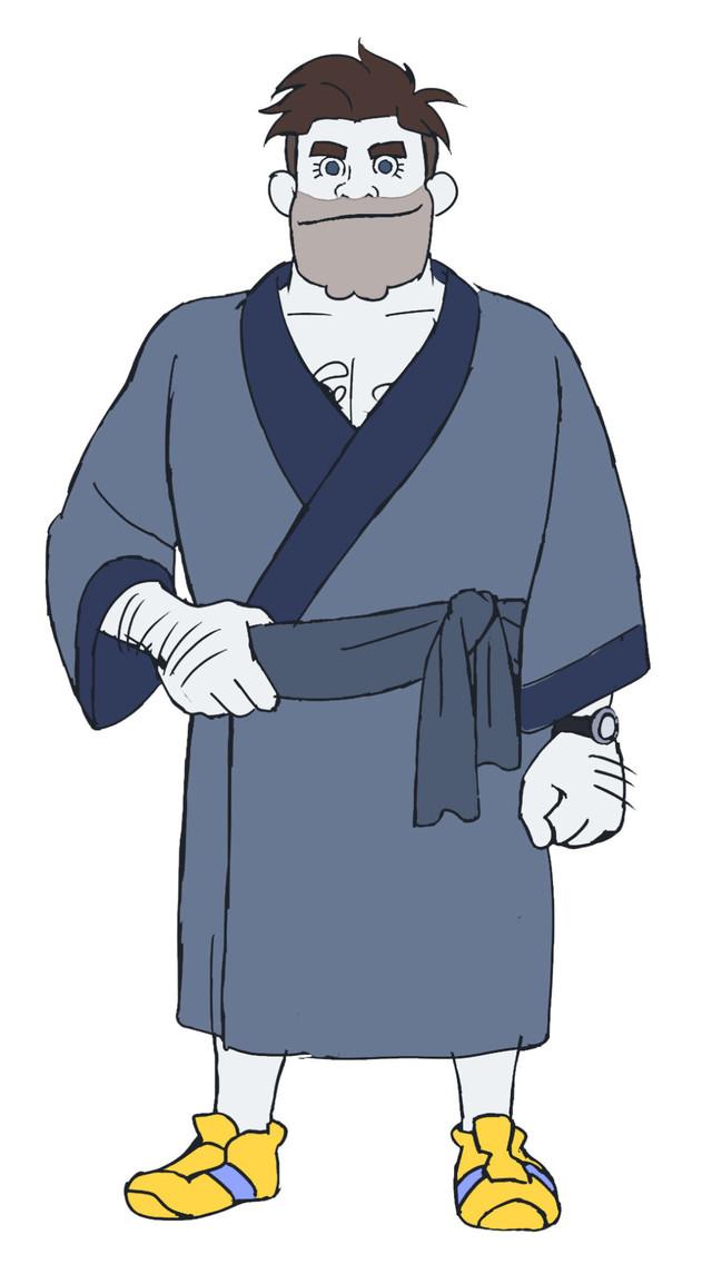 秋山竜次(ロバート)演じるパンツ総番長のキャラクター画像。