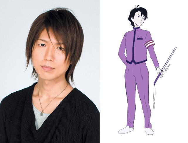 左から神谷浩史、学園祭事務局長のキャラクター画像。