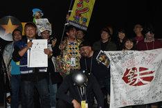 ゆうばり市民賞を受賞した「大怪獣チャランポラン祭り 鉄ドン」チーム。