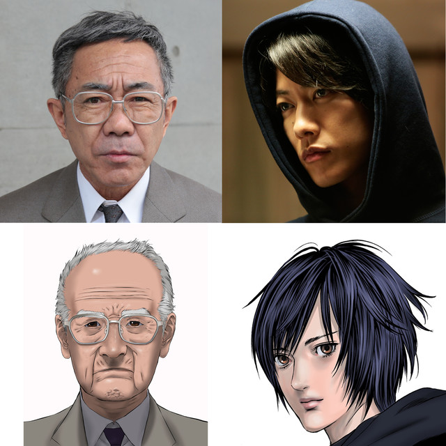 左から犬屋敷壱郎役の木梨憲武、獅子神皓役の佐藤健。