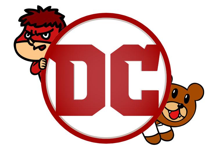 DCエンタテインメントと「鷹の爪」のコラボレーションロゴ。