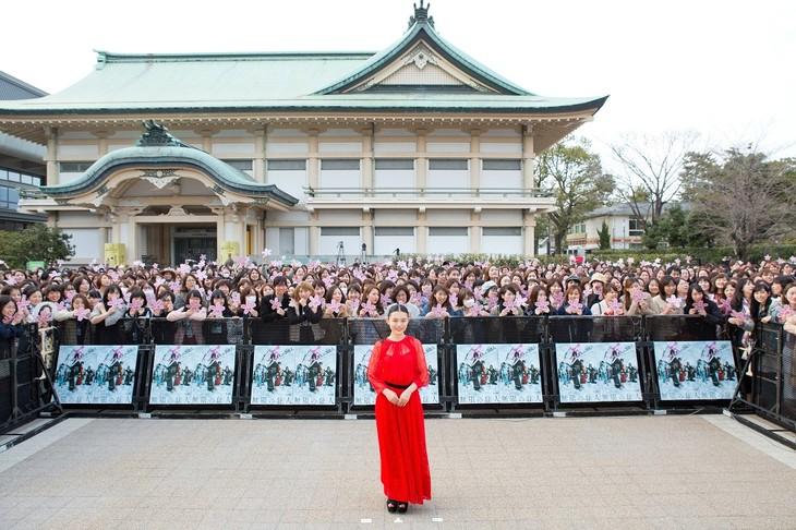 「無限の住人」京都プレミアイベントに出席した杉咲花。