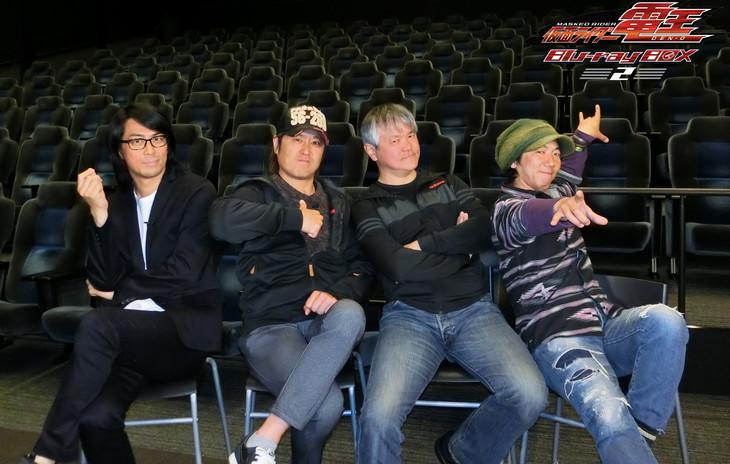 「仮面ライダー電王」スペシャル座談会の様子。左から永徳、高岩成二、岡元次郎、おぐらとしひろ。