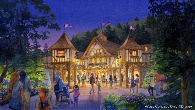 「ファンタジーランド・フォレストシアター」の外観イメージ図。