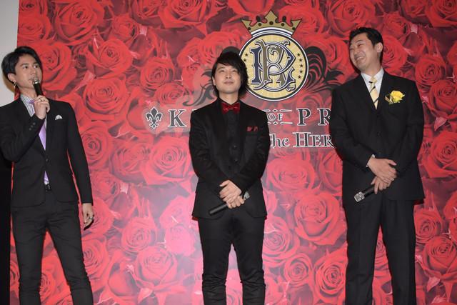 左から武内駿輔、寺島惇太、菱田正和監督。