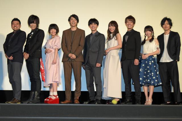 「トモダチゲーム 劇場版」完成披露舞台挨拶の様子。