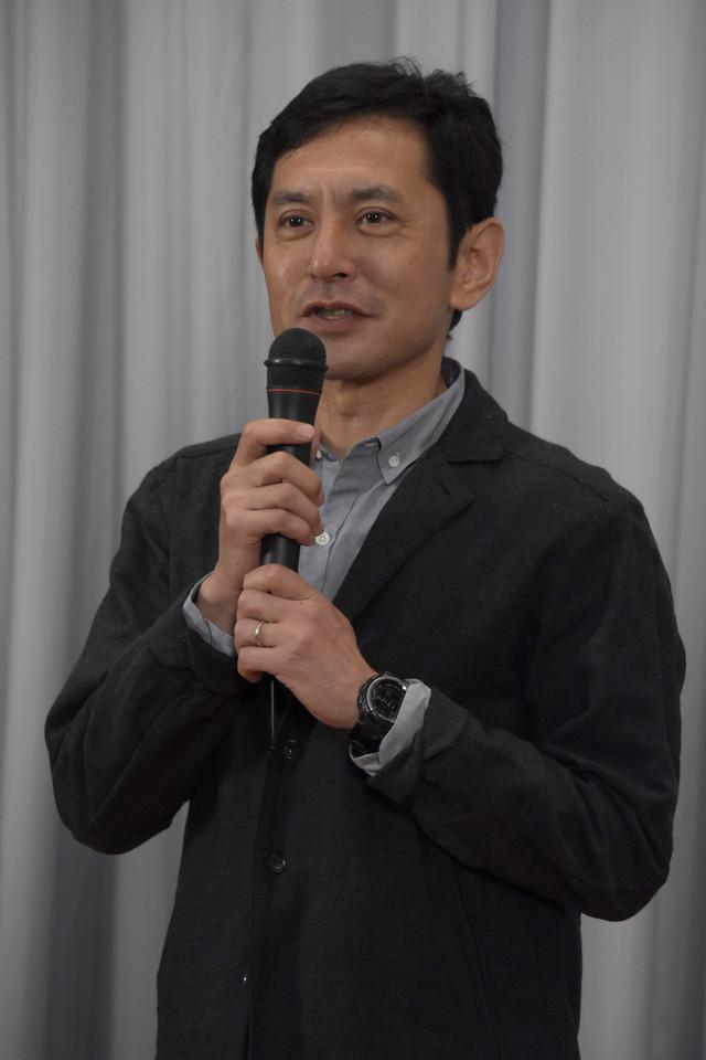 5月26日、三鷹の森ジブリ美術館の新企画展示「食べるを描く。」内覧会に出席した宮崎吾朗。