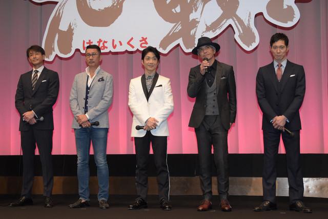 左から吉田栄作、中井貴一、野村萬斎、佐藤浩市、佐々木蔵之介。