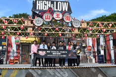 「HiGH&LOW THE LAND」プレス発表会の様子。