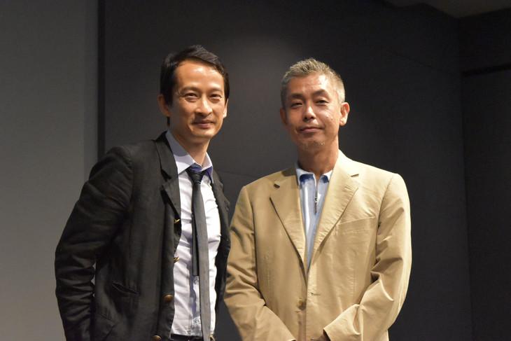 左からトラン・アン・ユン、橋口亮輔。