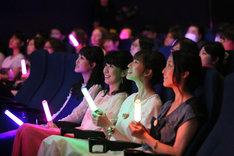 「劇場版『美少女戦士セーラームーンR』応援上映&スペシャルゲストトークイベント!」第一夜の様子。