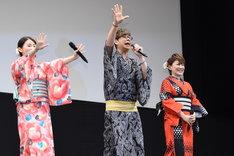 「劇場版ポケットモンスター キミにきめた!」完成披露舞台挨拶の様子。