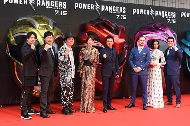 「パワーレンジャー」レッドカーペットイベントの様子。