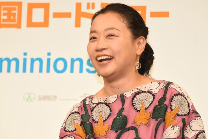 「怪盗グルーのミニオン大脱走」日本語吹替版の完成報告イベントに登壇した、いとうあさこ。