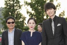 第21回富川国際ファンタスティック映画祭に参加したクァク・ジェヨン(左)、藤井武美(中央)、古川雄輝(右)。
