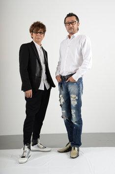 左から山寺宏一、大塚明夫。