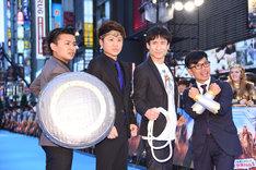 左からおもしろ佐藤(御茶ノ水男子)、川谷修士(2丁拳銃)、なだぎ武、竹若元博(バッファロー吾郎)。