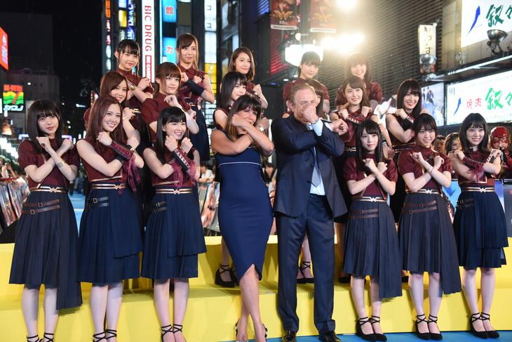 「ワンダーウーマン」ジャパンプレミアイベントの様子。