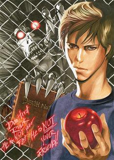 小畑健が「Death Note/デスノート」のために描き下ろしたイラスト。
