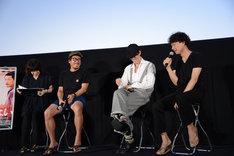 左からヤン・イクチュン、野田洋次郎、松永大司。