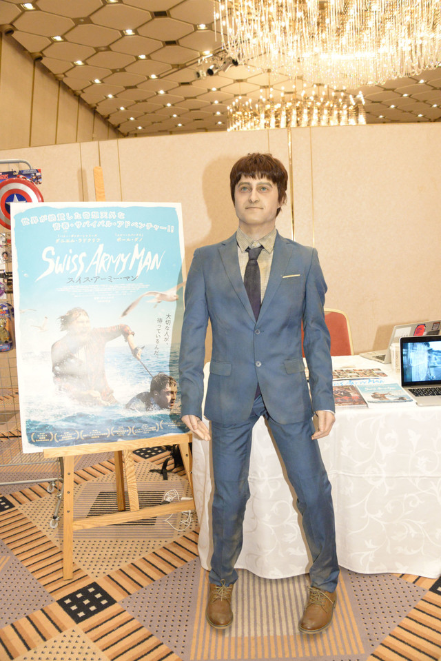 「ハリウッド・コレクターズ・コンベンション No.12」の会場に展示された、「スイス・アーミー・マン」でダニエル・ラドクリフが演じた死体メニーの立体模型。