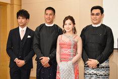 左から森崎ウィン、アウン・イェ・リン、ウィッ・モン・シュエ・イー、ヤン・アウン。